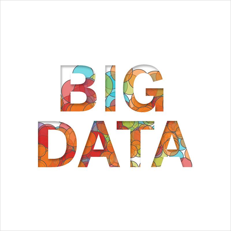 BigData en texte coloré