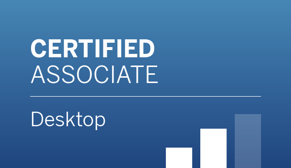 Tableau Desktop Certified Associate