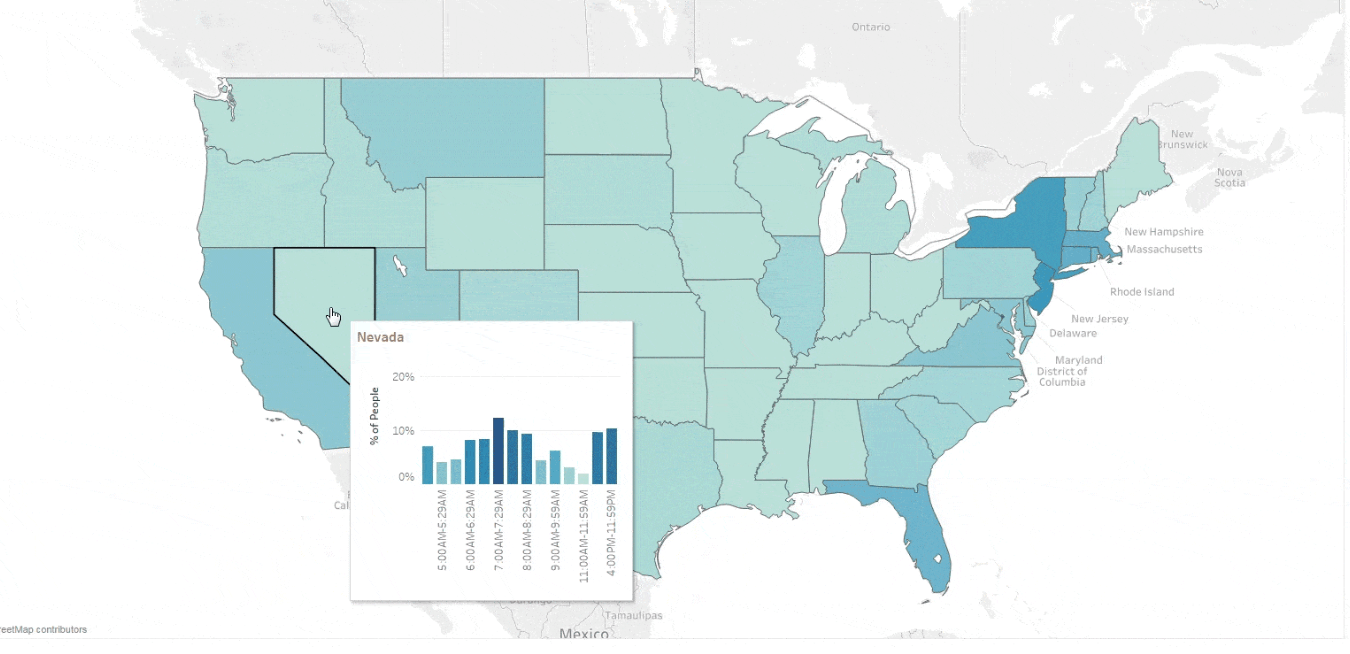 How to make effective bivariate choropleth maps with Tableau ...
