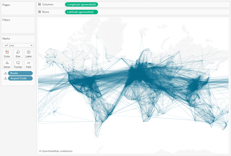 Flights of the World Part II: How to map great circle routes