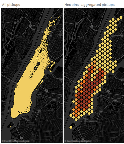 Data Map Discovery: How to use spatial binning for complex