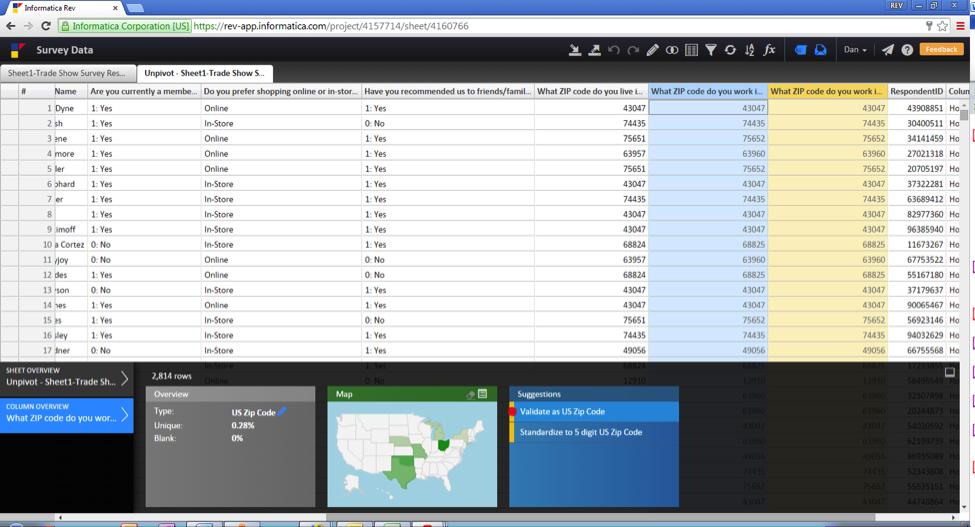 Validating survey data