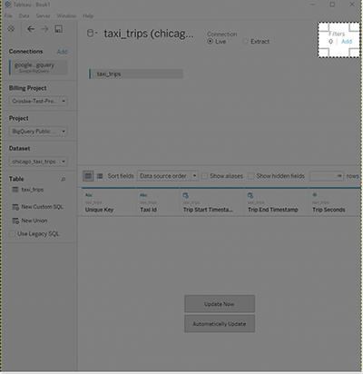 how to connect tableau to bigquery