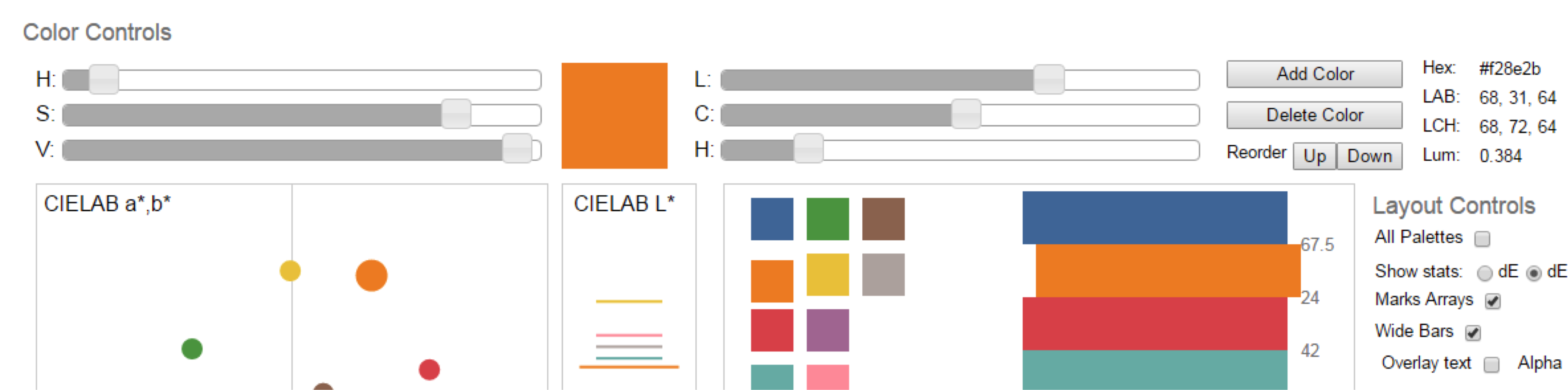 How we designed the new color palettes in tableau 10 tableau in addition we display the colors in a variety of ways to simulate their use in the product in the left column the larger squares represent the colors geenschuldenfo Choice Image