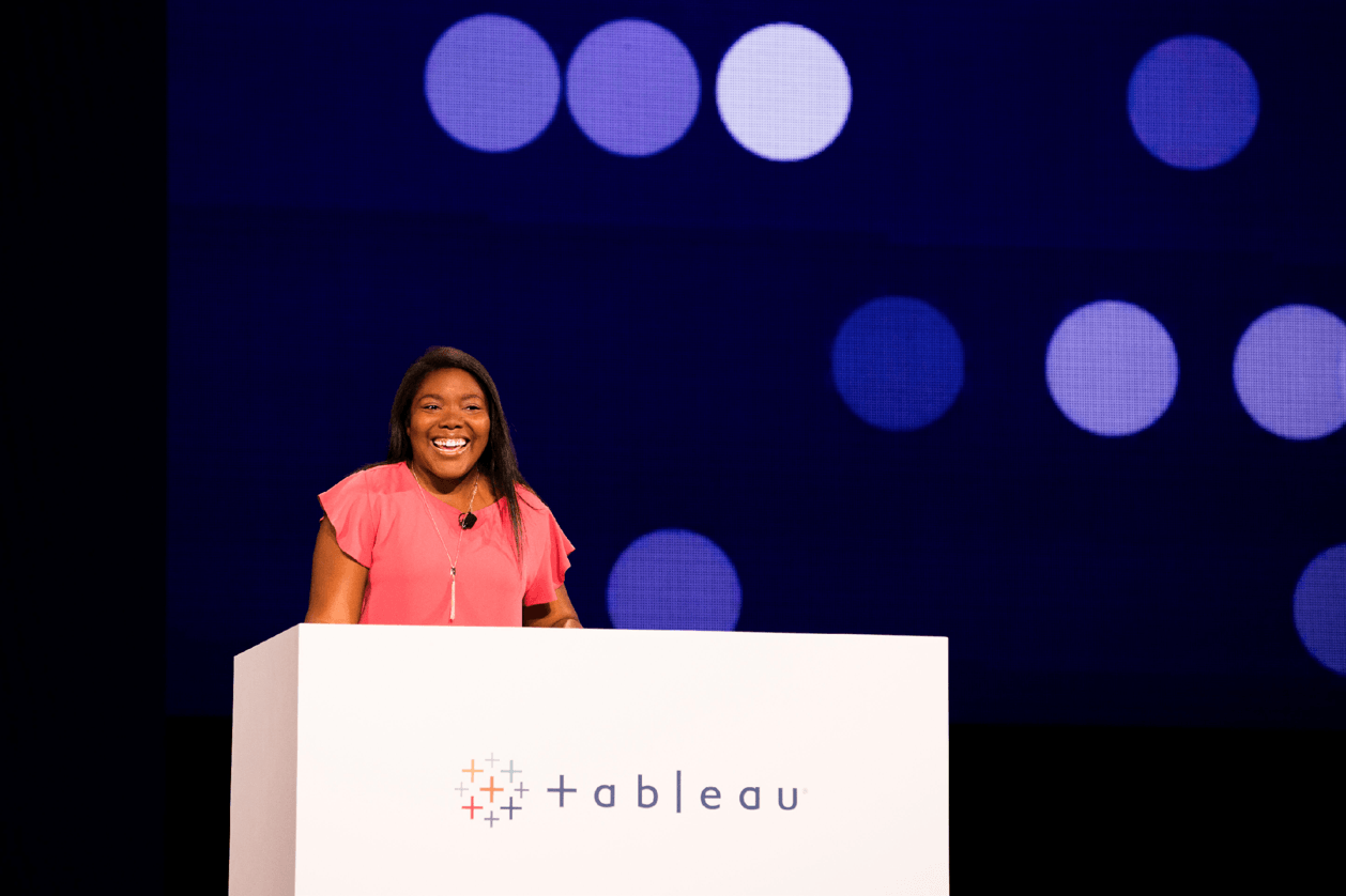 Keshia Rose at the TC18 Devs on Stage keynote