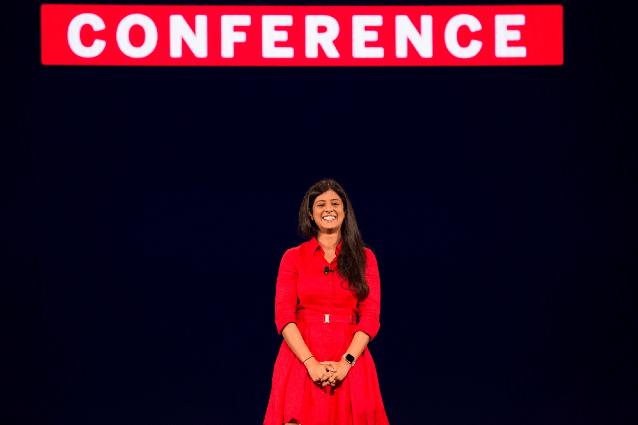Swati Srivastav at the TC18 Devs on Stage keynote