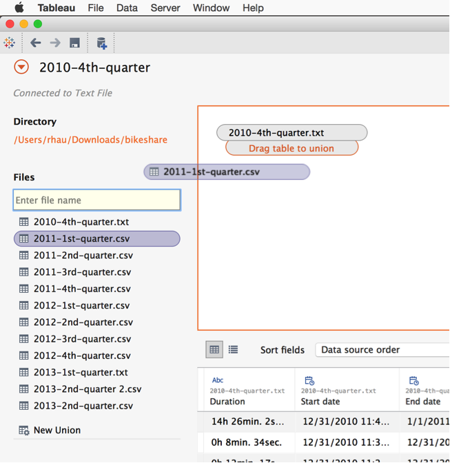 Combine your data with Union in Tableau 9 3 | Tableau Software