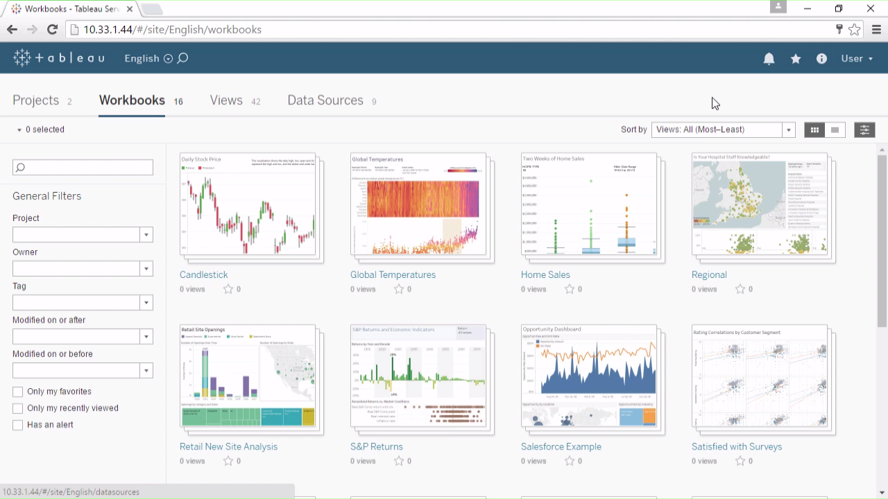 Getting Started with Tableau Server