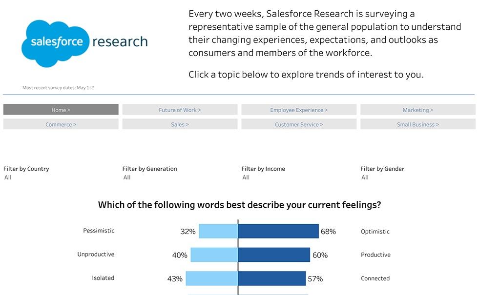 Consumer and Workforce Survey Dashboard