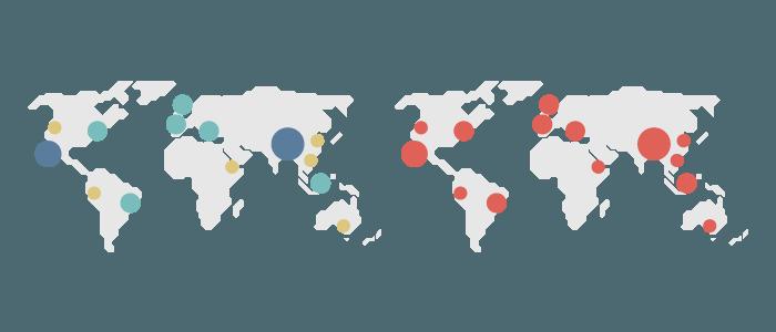 Map charts