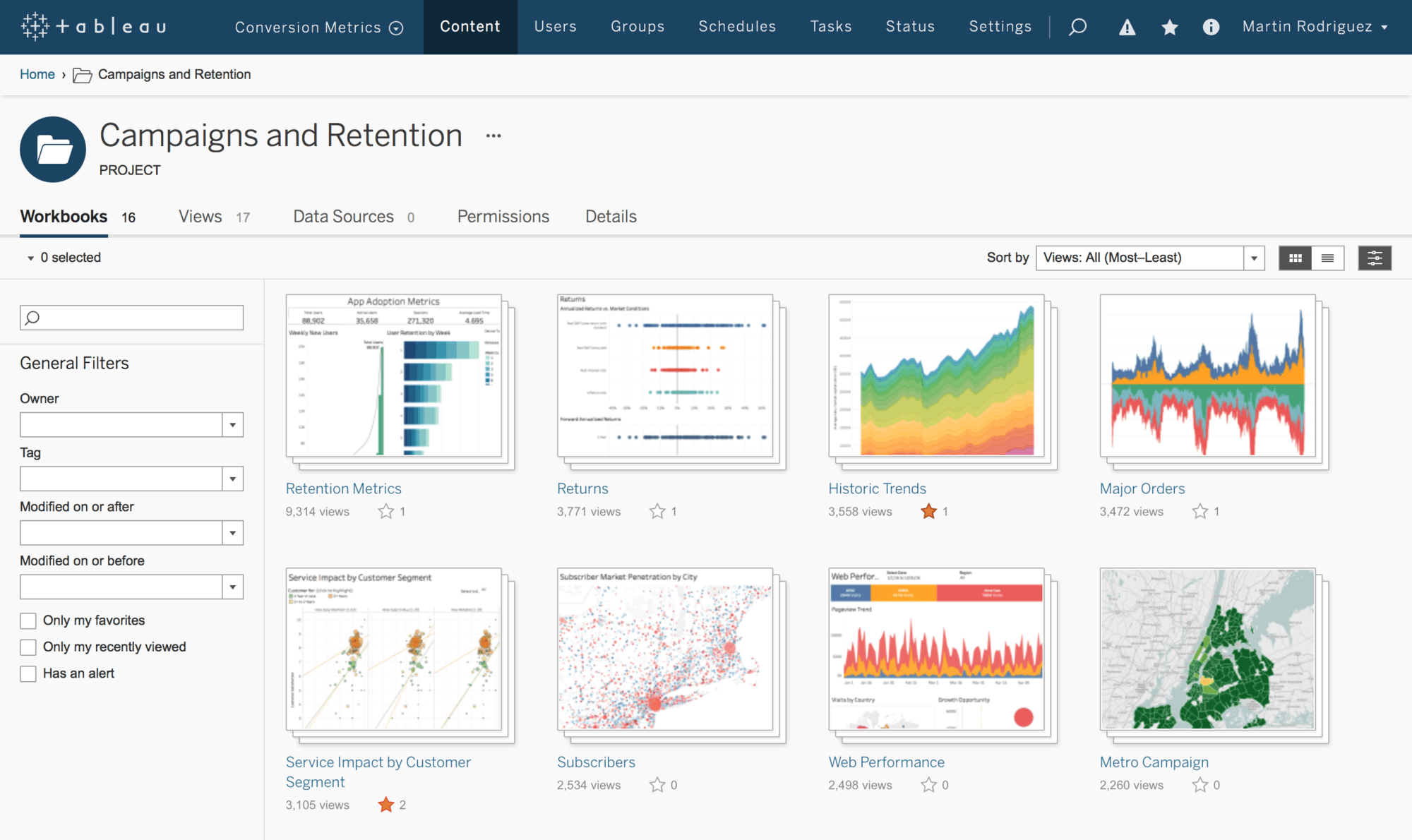 Tableau Server Linux: Beispiel-Dashboard